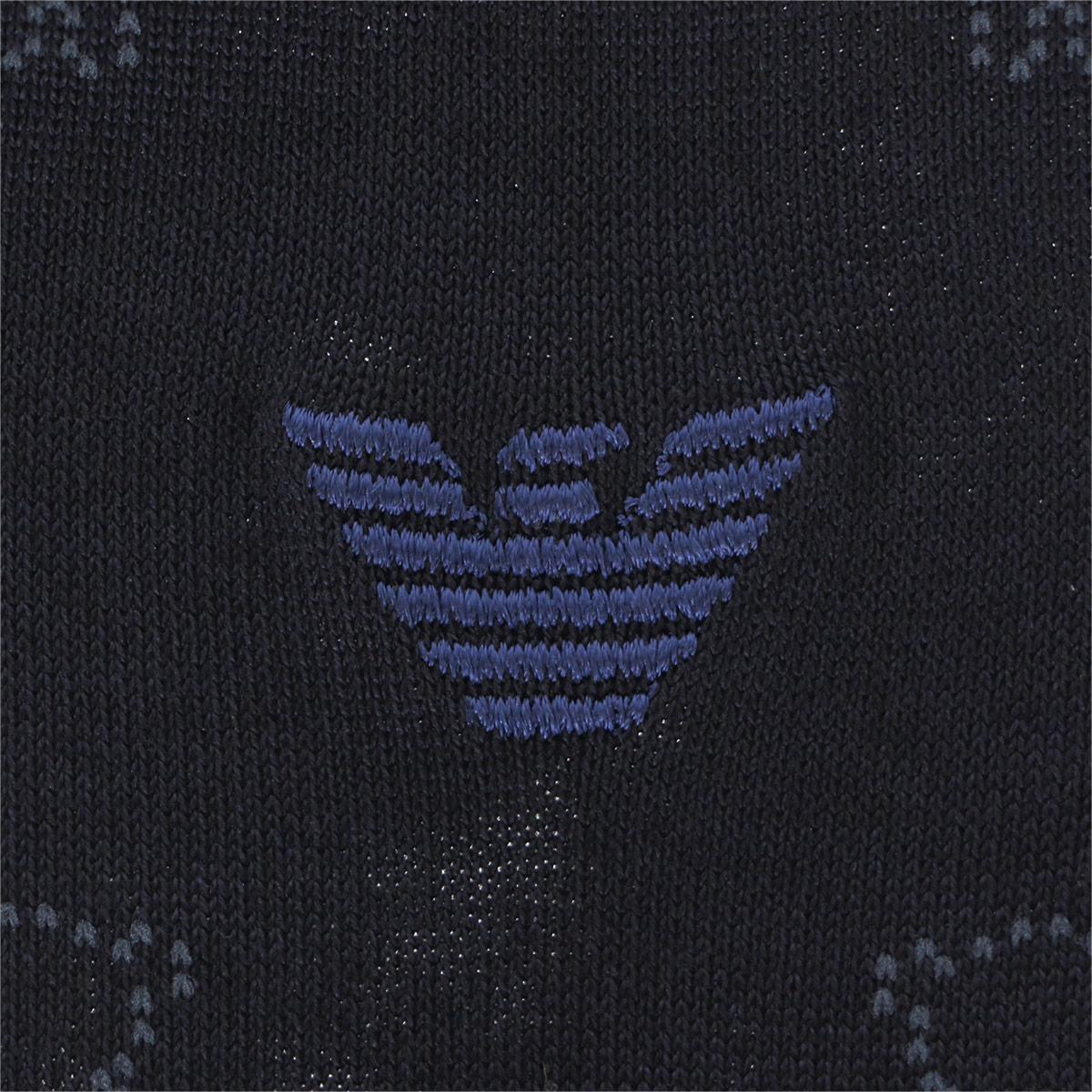 EMPORIO ARMANI ( エンポリオ アルマーニ ) ビジネス Dress ベアドット 抗菌防臭 クルー丈 ソックス 靴下 メンズ 男性 紳士 プレゼント 贈答 ギフト 2312-427【ゆうパケット・4点まで】