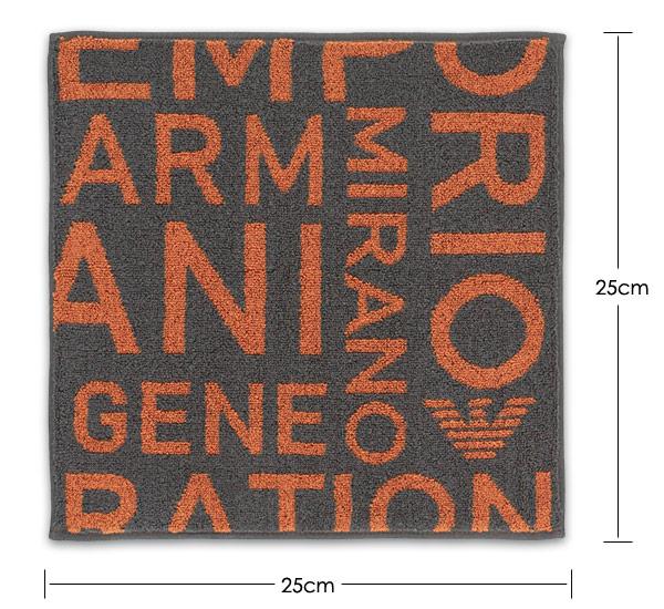 EMPORIO ARMANI エンポリオ アルマーニ  EAロゴ 綿100% タオルハンカチ(ハンドタオル) 男性 メンズ 02340017【ゆうパケット・4点まで】