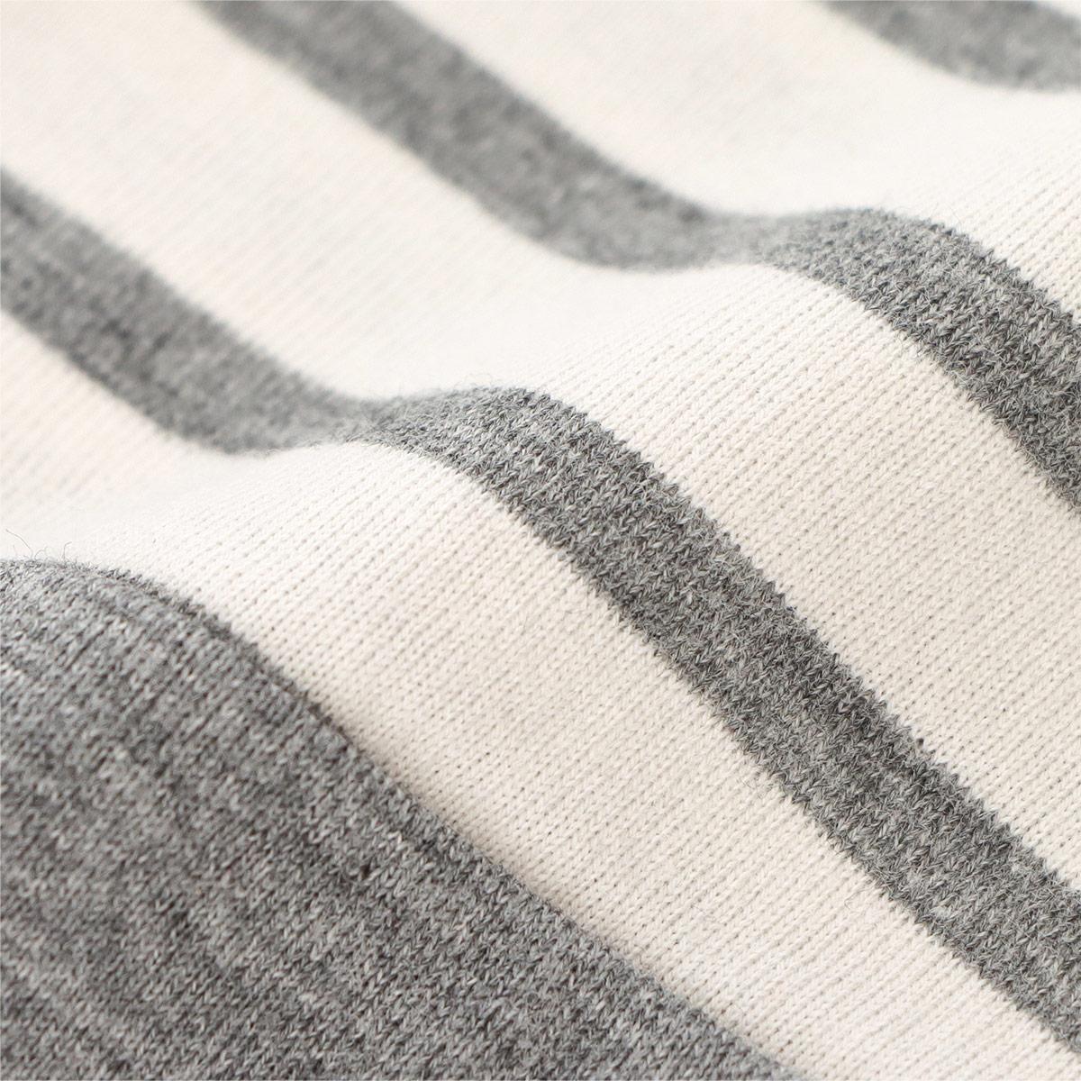 LANVIN COLLECTION ランバン コレクション レディース パジャマ シネタッチボーダー コットン100% 長袖 パンツ Mサイズ 73045572【ゆうパケットお取り扱い不可】