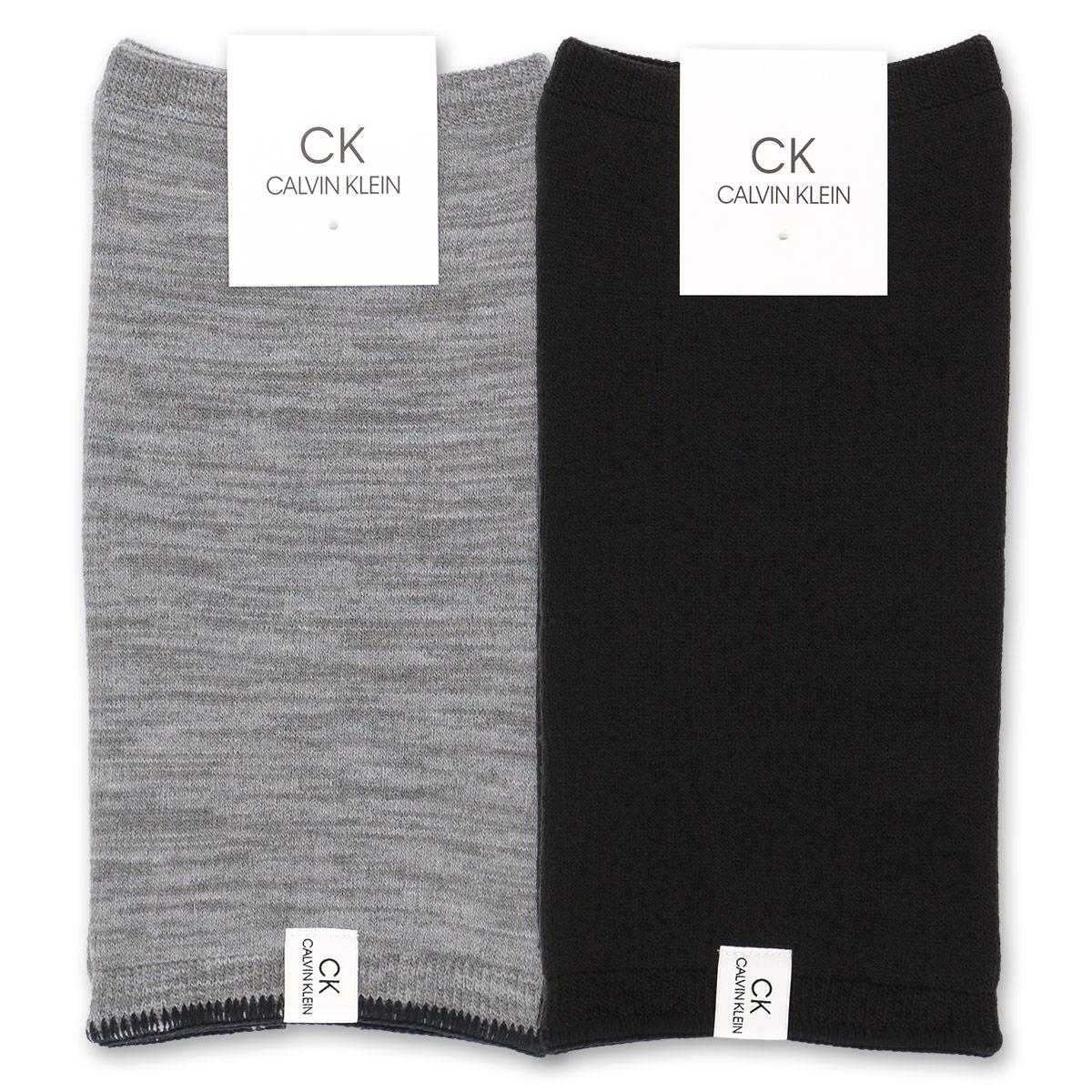 Calvin Klein ( カルバンクライン ) もち肌 レッグウォーマー 冬用 毛混 内起毛 ミドル丈 室内 カジュアル 男性 メンズ 靴下 プレゼント 贈答 ギフト 2545-827【ゆうパケット・2点まで】