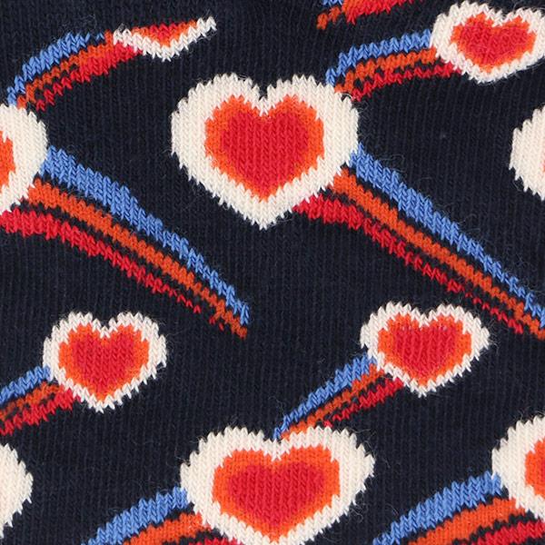 Happy Socks ハッピーソックス SHOOTING HEARTS ( シューティング ハート ) スニーカー丈 綿混 ソックス 靴下 ユニセックス レディース  11123018【ゆうパケット・6点まで】