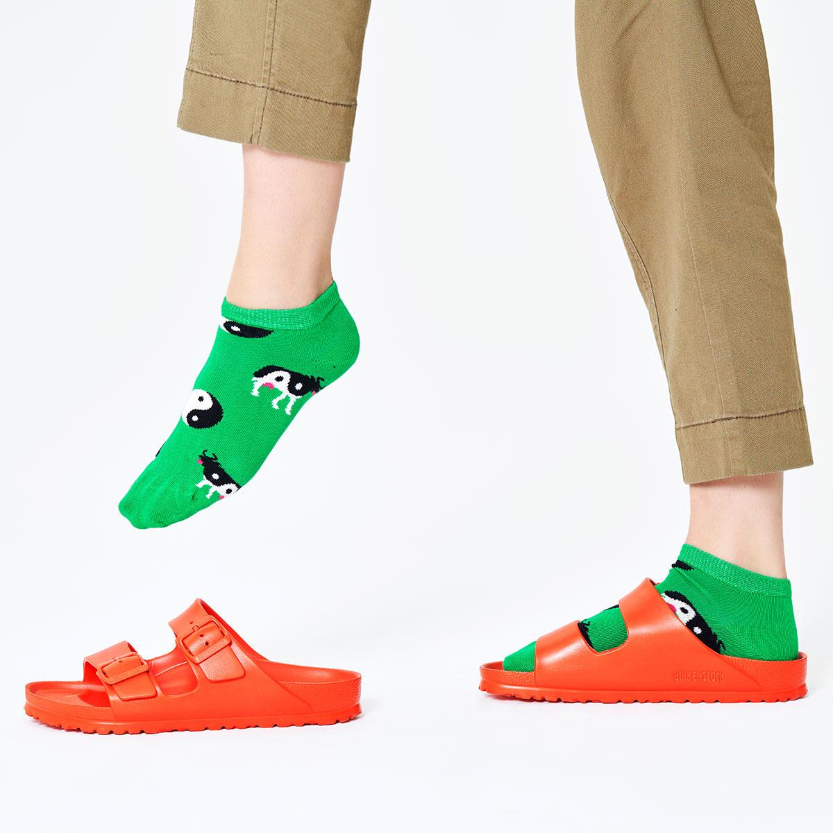 セール!Happy Socks ハッピーソックス  YIN YANG COW ( インヤンカウ ) スニーカー丈 綿混 レディース ソックス 靴下 女性 婦人 プレゼント ギフト 11127016