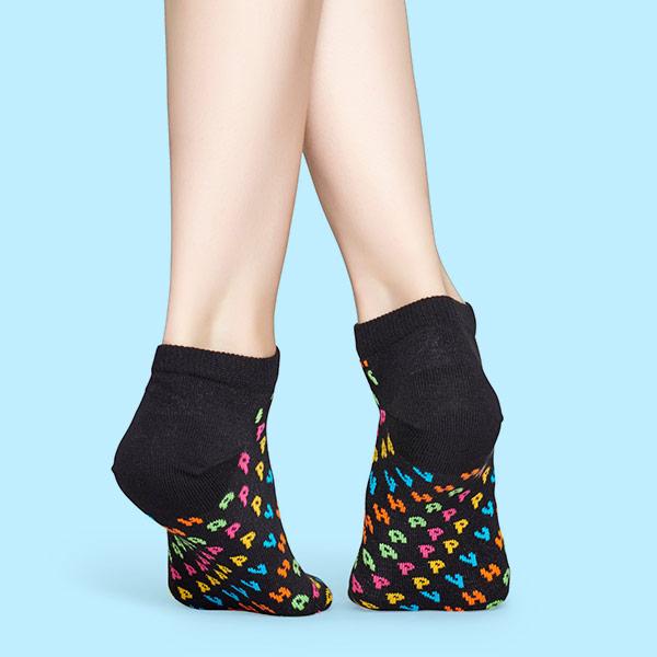 Happy Socks ハッピーソックス HAPPY ( ハッピー ) スニーカー丈 綿混 ソックス 靴下 ユニセックス レディース  11127006【ゆうパケット・6点まで】
