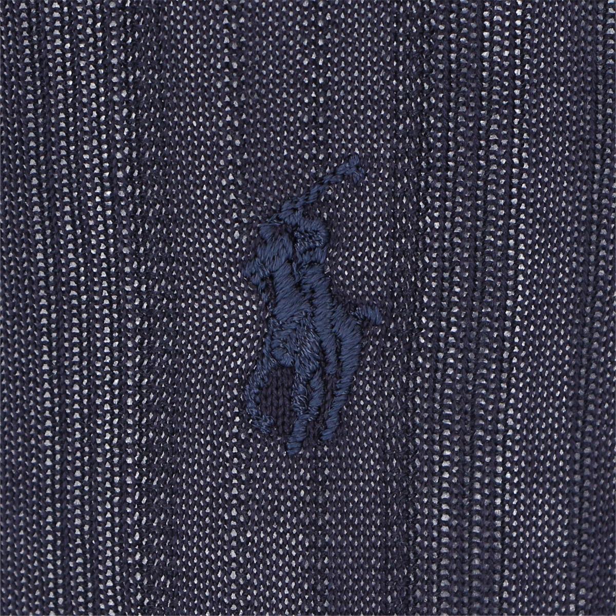 POLO RALPH LAUREN ポロ ラルフローレン|メンズ ビジネス クルー ソックス|綿混 抗菌防臭 ワンポイント刺繍 センターリンクス柄|エジプト綿使用|2042-140 【ゆうパケット・4点まで】