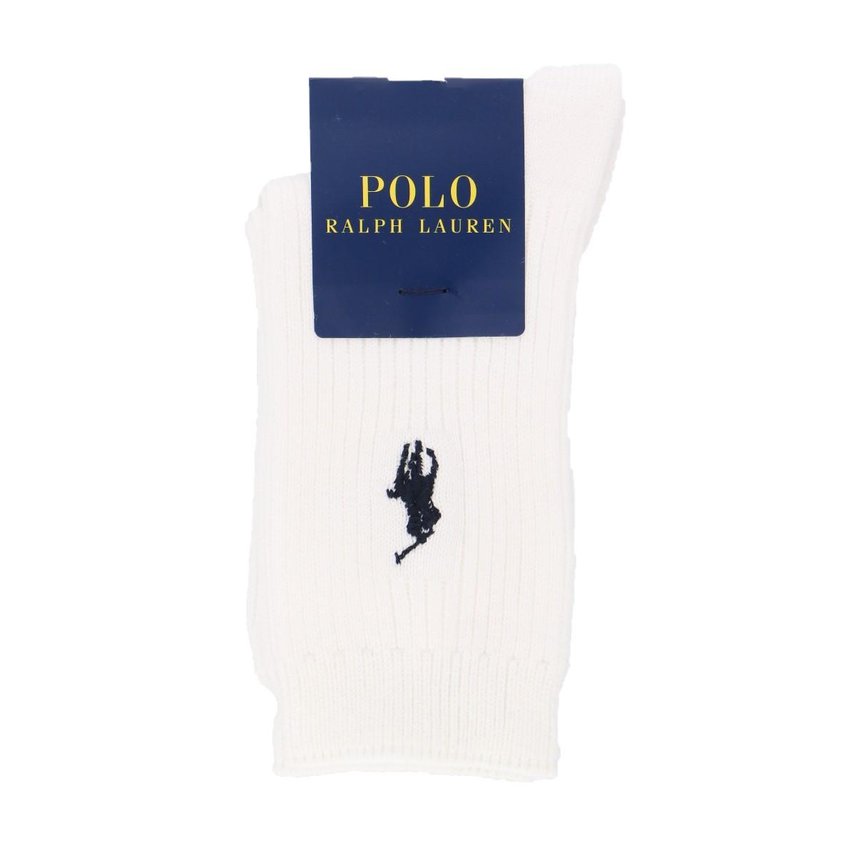 POLO RALPH LAUREN ポロ ラルフローレン|子供 男の子 女の子 キッズ ボーイズ ガールズ|ワンポイント刺繍 綿混|リブ クルーソックス|4865-426【ゆうパケット・4点まで】