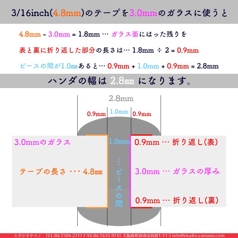 カッパーテープ_エドコ_幅:13/64inch(5.1mm)_裏面:黒色_厚さ:0.025mm_長さ:33m