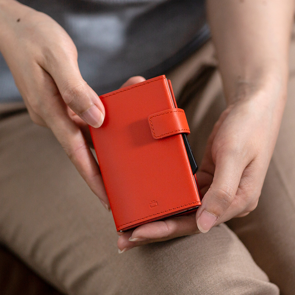 正規日本代理店 OGON フランス製 スライド式 ウォレット ジッパー クレジットカードケース カード入れ 小銭入れ コインケース カードケース スキミング防止 オゴン [あす着対応]【父の日特集】