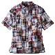 パッチワーク マドラスチェック シャツ 半袖シャツ 柄シャツ メンズ 男性用[HERRINGBONE CLUB/ ヘリンボーンクラブ ][あす着対応] セール対象