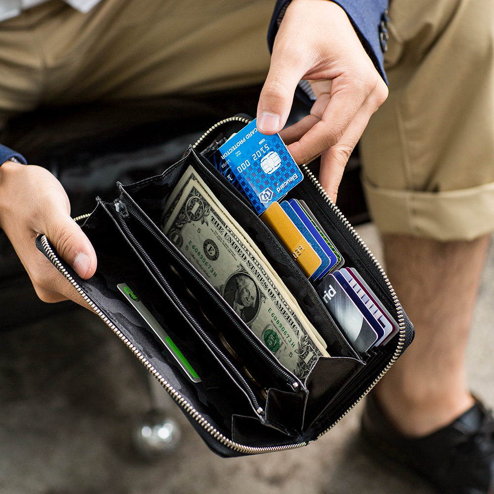[名入れ無料] スキミング防止機能付き 長財布 長札財布 ロングウォレット 一目瞭然ウォレットBIZ カード25枚以上収納[Snobbist/スノビスト][あす着対応] セール対象
