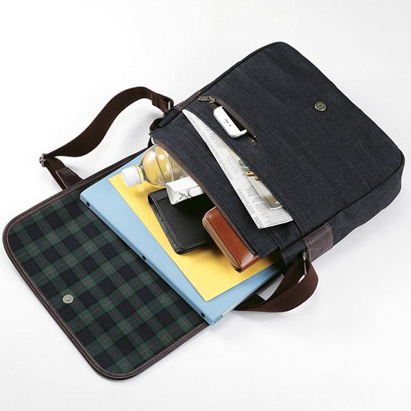 日本製 岡山デニム フラップ ショルダーバッグ 斜め掛け A4対応 [あす着対応] セール対象