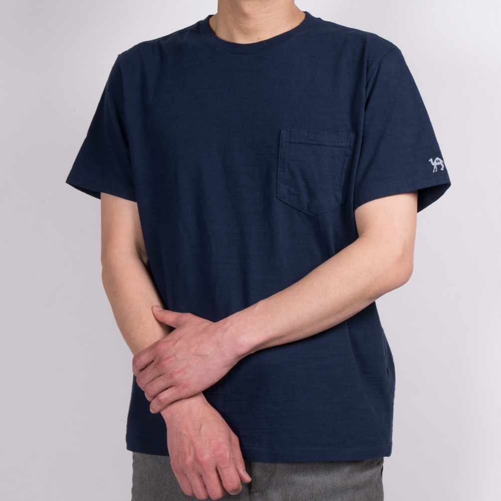 [ハリウッド ランチ マーケット]スラブ天竺ポケットTシャツ[あす着対応]