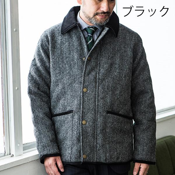 [ハリスツイード]ペレグリン(Peregrine) 英国製 HARRIS TWEED キルティングジャケット[あす着対応] グレンフィールド セール対象