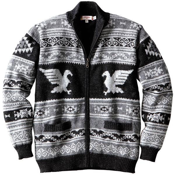 アルパカ ジップカーディガン ライニング付き IFER Knitwear アイファーニットウェア[あす着対応] セール対象