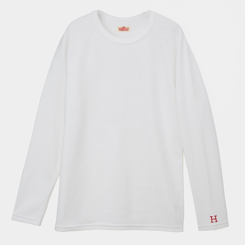 [ハリウッド ランチ マーケット]ストレッチフライス メンズクルーネック別注長袖Tシャツ[あす着対応] ポイントアップ対象