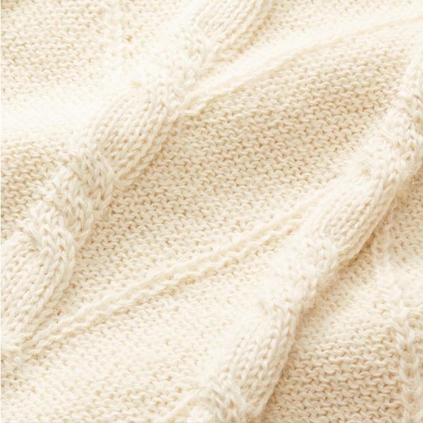 アルパカケーブル編みロング丈セーター [Chiocciola/キオッチョラ] [JA]  [あす着対応]  レディース ニット アルパカ ロング丈