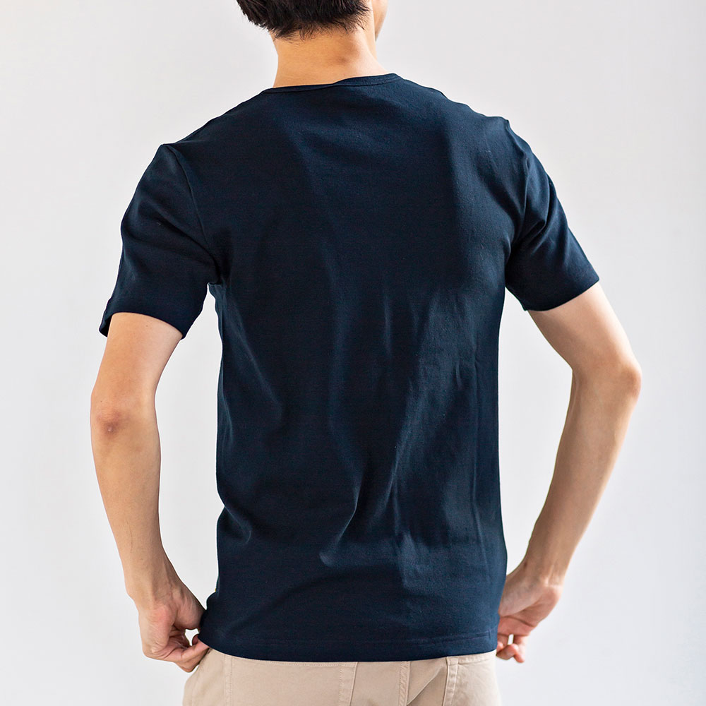 サイドシームレス コットン Tシャツ 2枚組 半袖[Armor lux/アルモーリュクス][あす着対応]