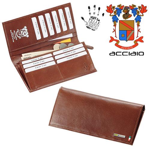 ACCIAIO イタリア製ベジタブルタンニングレザー長財布/aging[あす着対応] グレンフィールド