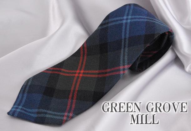 英国製 チェックネクタイ Cairngone(ケアーンゴーン) GREEN GROVE WEAVERS グレンフィールド[あす着対応]