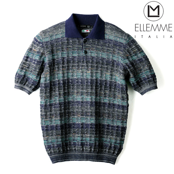 イタリア製ジャガードポロシャツ/ELLEMME[あす着対応] グレンフィールド[18ap04] セール対象