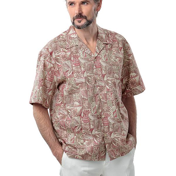 アメリカ製リバースプリントハワイアンシャツ[あす着対応] グレンフィールド[18ap03] セール対象
