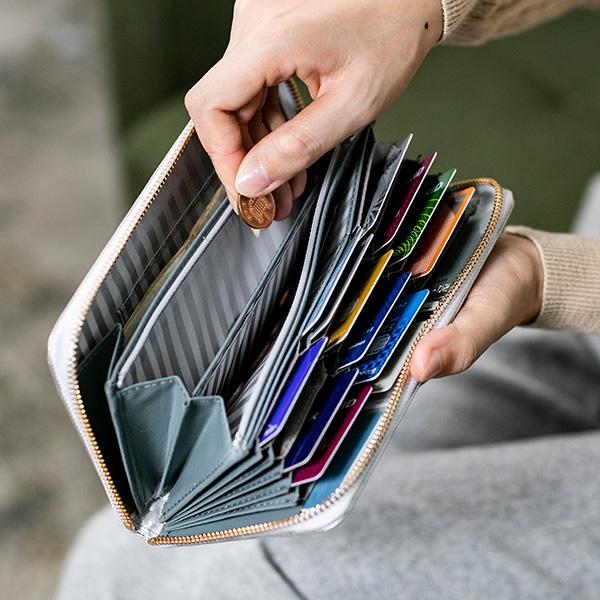 カード24枚以上 大容量 レディース  本革 長財布(ラウンドファスナー 財布)彼女へのプレゼントに最適!母の日にも[CHIOCCIOLA/キオッチョラ][名入れ無料][あす着対応]【父の日特集】