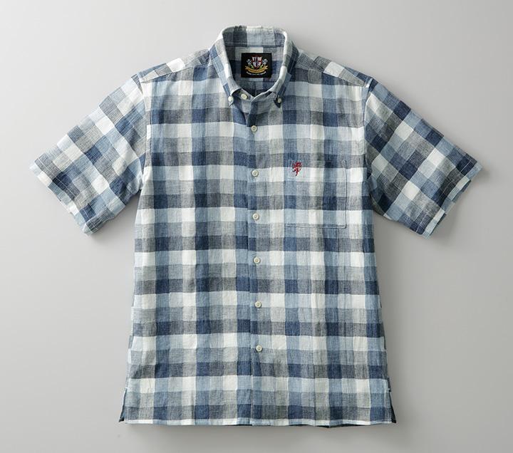 ボックスチェックシャツ(クールマックス ファブリック使用) [Herringbone Club/ヘリンボーンクラブ][シャツ ギフト メンズ 男性 彼氏  おしゃれ ブランド 誕生日プレゼント] [あす着対応] セール対象 20atu3