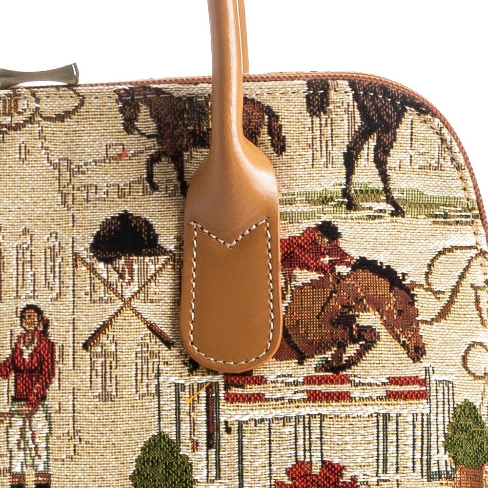 フランス製 ゴブラン織り 騎士柄 ミニボストンバッグ レディース 女性 [あす着対応]