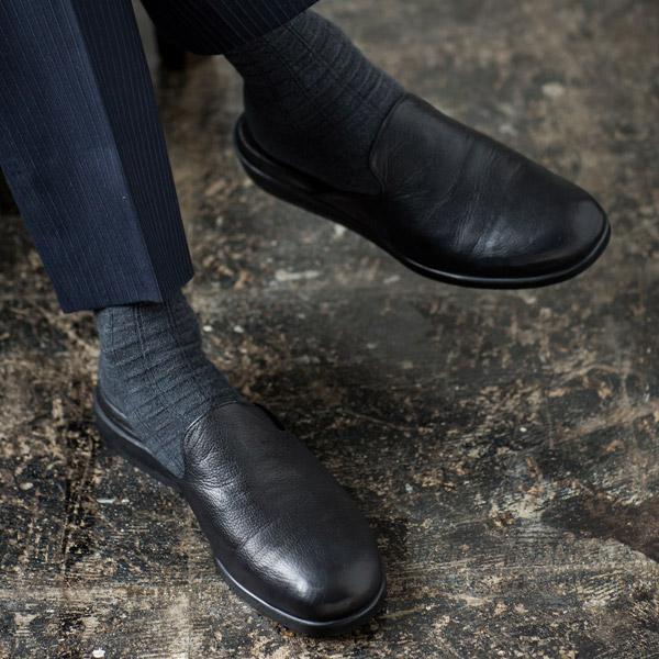 [名入れ無料]馬革 ワンマイル シューズ ビジネスシューズ スリッパ サンダル 本革 FLYING HORSE/フライングホース[あす着対応]