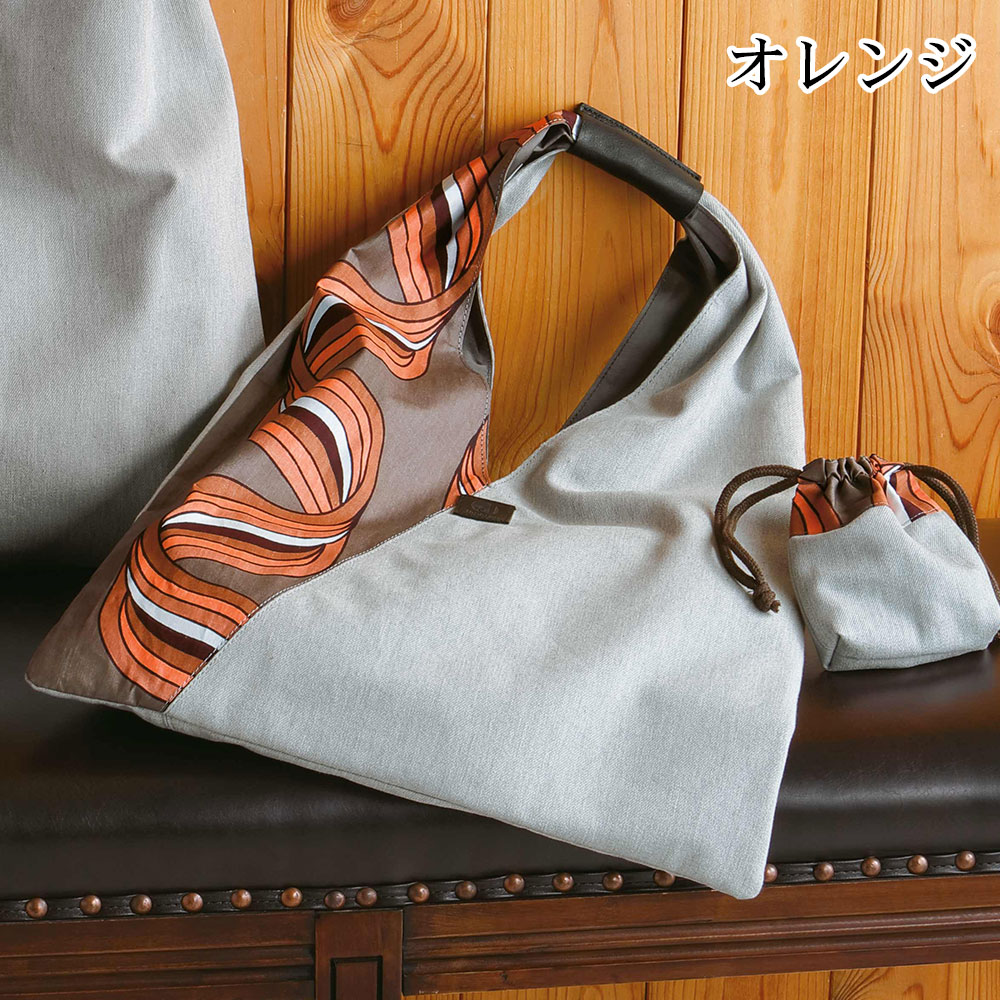 日本製 チテンジ&日本デニムショルダーバッグ[あす着対応] セール対象