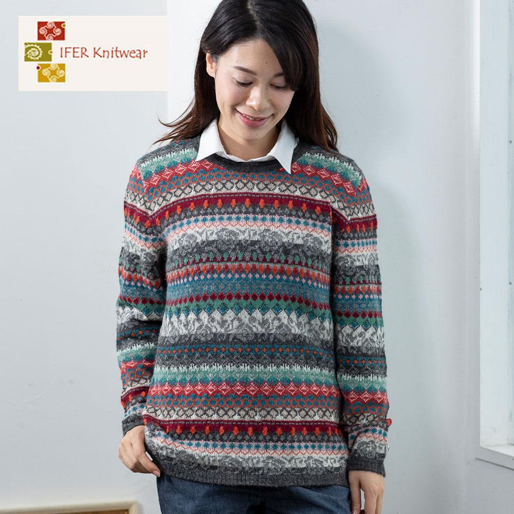 アルパカ レディース フェアアイル セーター ニット [IFER Knitwear/アイファーニットウェア] [送料無料] [レディース 女性 おしゃれ 誕生日 プレゼント]  [あす着対応] セール対象