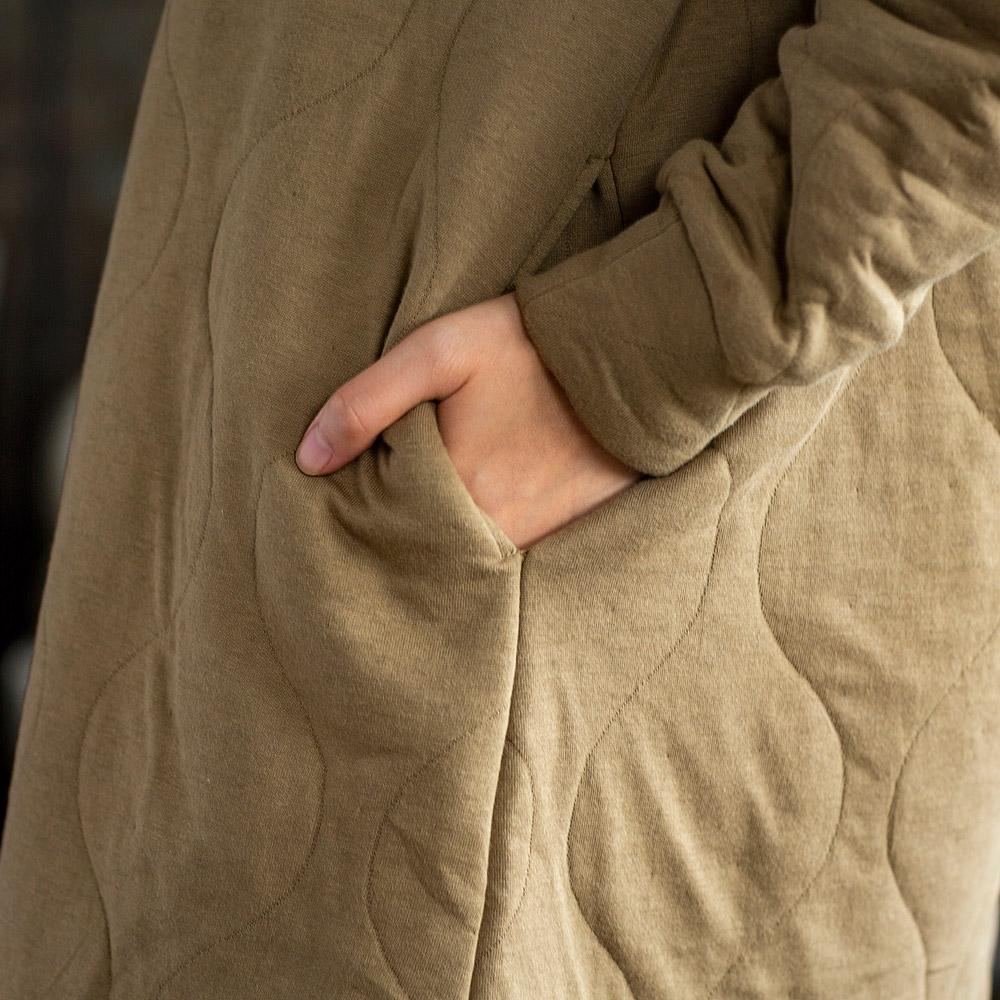 キルティング ジャガード フーディ フード付き ワンピース レディース 女性 Aライン 秋冬[KIFFE /キッフェ][あす着対応] セール対象