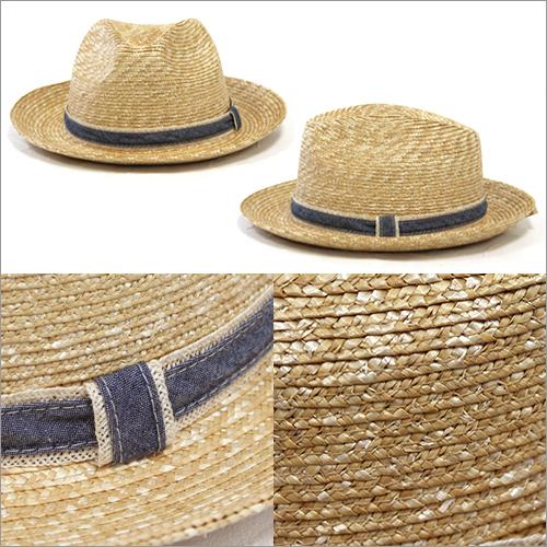 GLCオリジナル中折れ麦わら帽子/麦わら帽子/石田製帽/ストローハット/中折れ/日本製[あす着対応] グレンフィールド[panahat] セール対象 20atu5