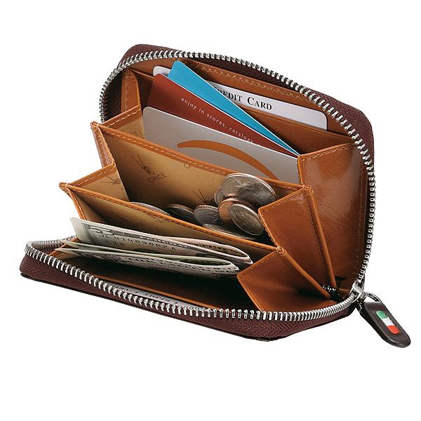【名入れ無料】オリーチェラウンドファスナーコンパクトウォレット/財布[あす着対応] グレンフィールド セール対象