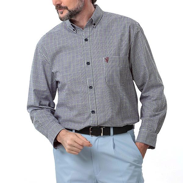 クールマックスギンガムチェックシャツ【HBC】[あす着対応] グレンフィールド