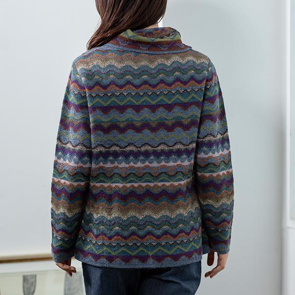 アルパカレディースジグザグプルオーバー[IFER Knitwear/アイファーニットウェア][ニット 女性 ギフト 秋冬][あす着対応] セール対象