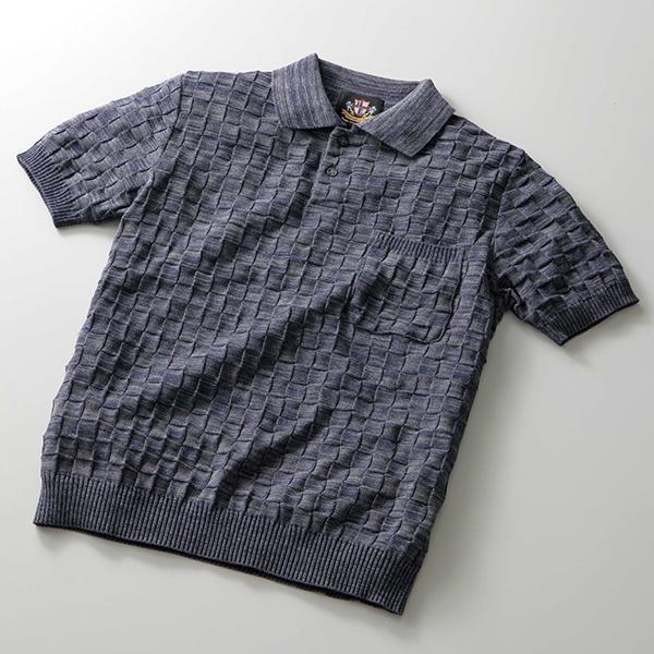 日本製市松模様ポロシャツ[Herringbone Club / ヘリンボーンクラブ][あす着対応] 20atu3 セール対象
