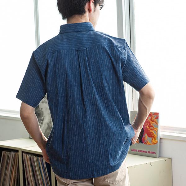 日本製絣染めシャツ[Herringbone Club / ヘリンボーンクラブ][あす着対応]