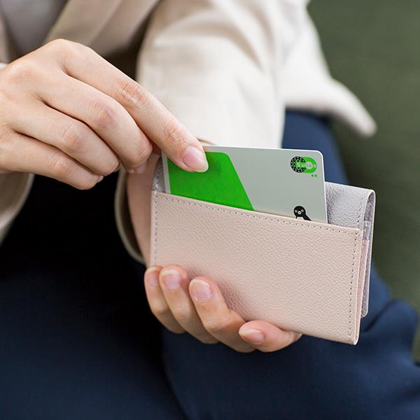 [名入れ無料]名刺入れ レディース バイカラー カードケース 本革 レザー 女性用 定期入れ カード入れ カードホルダー スリム かわいい おしゃれ[Chiocciola / キオッチョラ][あす着対応][保証対象]