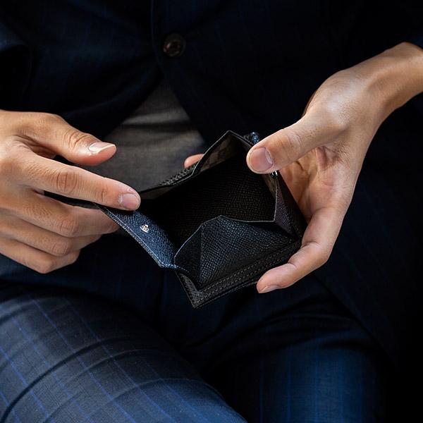 [メゾンド ヒロアン/MAISON de HIROAN] 日本製 コンパクト 二つ折り財布 アルピナレザー 本革 博庵 [あす着対応] セール対象