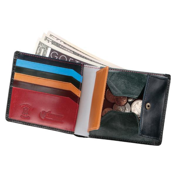 【名入れ無料】【送料無料】【BRITISH GREEN】ダブルブライドルレザー二つ折り財布マルチカラー【ブリティッシュグリーン】【財布】 グレンフィールド セール対象[あす着対応]