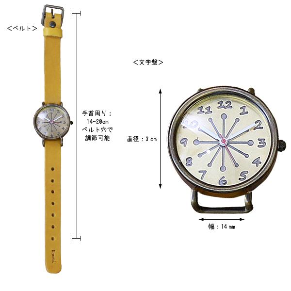 送料無料/Kanmi. coco watch ビター WA16-03/日本製/腕時計/ウォッチ[あす着対応][名入れ無料]  スタッフおすすめ