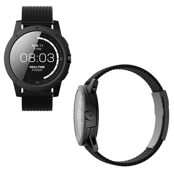 MATRIX POWER WATCH BLACK [スマートウォッチ 腕時計 充電不要 メンズ ][あす着対応]