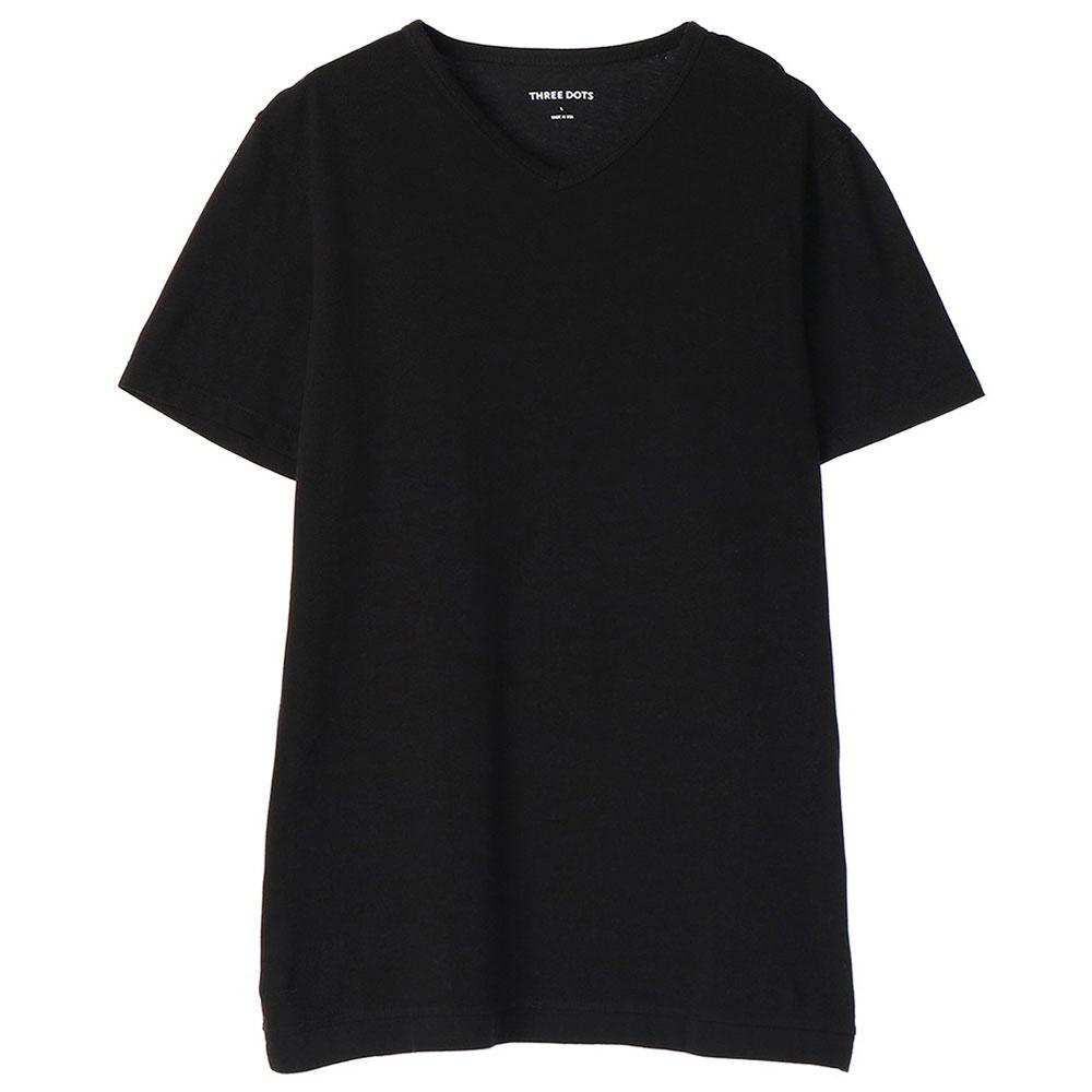 [スリードッツ]メンズ Vネック Tシャツ マット メンズ [あす着対応]