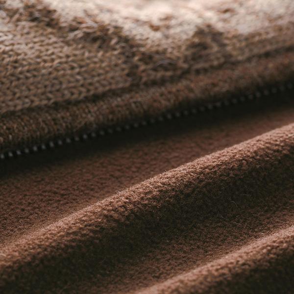 アルパカインカモチーフカーディガンライニング付き[IFER Knitwear/アイファー ニットウェア][あす着対応]