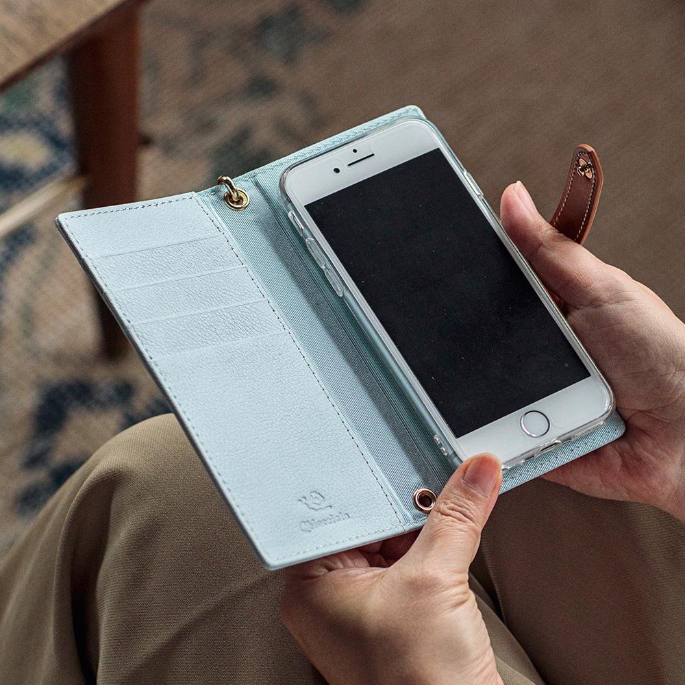 [名入れ無料]手帳型 スマホケース スマートフォンケース [CHIOCCIOLA/キオッチョラ] [あす着対応]