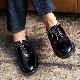 靴 メンズ イギリス製 レザーシューズ 4EYELET プレーントゥ[SOLOVAIR / ソロヴェアー]エアクッションソール くつ シューズ 革 革靴 ビジネス ドクターマーチン [あす着対応]