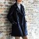 [FIDELITY /フィデリティ] メンズ ブリッジコート 日本製 メルトン コート ピーコート Pコート ビジネスコート [あす着対応]
