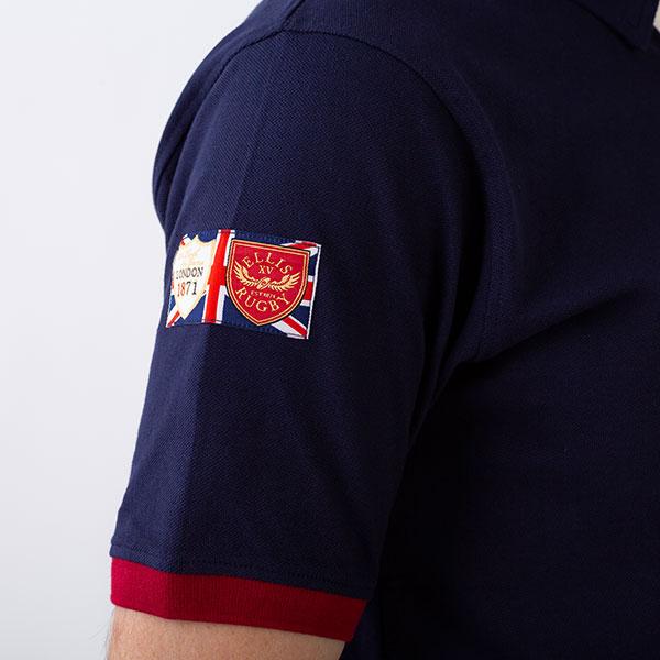 ラグビー鹿の子地ポロシャツ 半袖 カノコ メンズ[Ellis Rugby/エリス ラグビー][あす着対応]