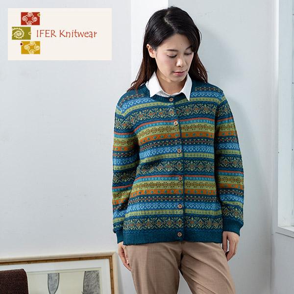 アルパカレディースフェアアイルカーディガン2019[IFER Knitwear/アイファーニットウェア]  [レディース 女性 おしゃれ 誕生日 プレゼント]  [あす着対応]