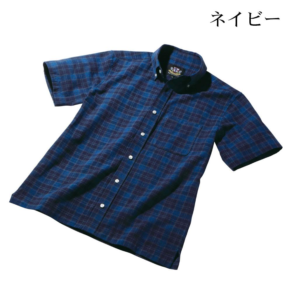 日本製 スペック染 半袖 ボタンダウンシャツ メンズ[あす着対応]